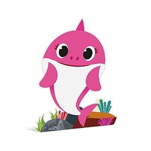 Silhueta De Chão Mommy Shark Pink - Festa Baby Shark - 01 unidade - Cromus - Rizzo Festas