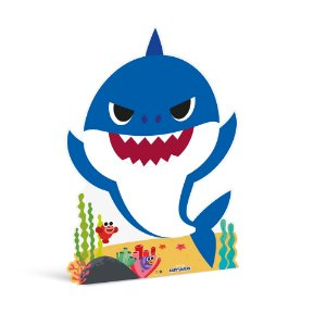 Silhueta De Chão Daddy Shark Azul - Festa Baby Shark - 01 unidade - Cromus - Rizzo Festas