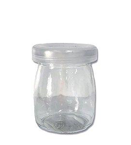 Potinho de Vidro Sais Tampa Cristal G 100ml - 7cm x 5cm - 01 unidade - Rizzo Embalagens