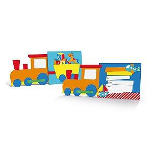 Convite - Festa Fábrica de Brinquedos - 08 unidades - Cromus - Rizzo Festas