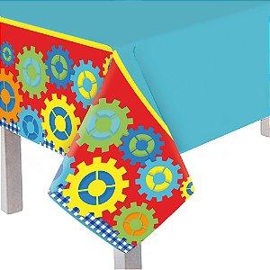 Toalha de Mesa Principal Festa Fábrica de Brinquedos - Cromus - Rizzo Festas