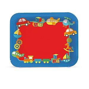 Bandeja Laminada R5 - Festa Fábrica de Brinquedos - 01 unidade - Cromus - Rizzo Festas