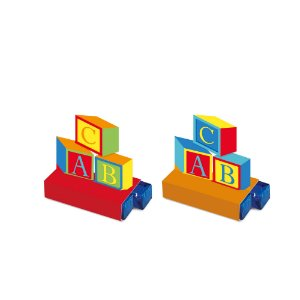 Caixa Bis - Festa Fábrica de Brinquedos - 08 unidades - Cromus - Rizzo Festas