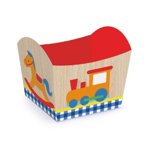 Mini Cachepot  - Festa Fábrica de Brinquedos - 10 unidades - Cromus - Rizzo Festas
