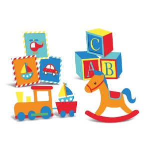 Silhueta Decorativa de Mesa - Festa Fábrica de Brinquedos - 04 unidades - Cromus - Rizzo Festas