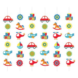 Cortina Decorativa - Festa Fábrica de Brinquedos - 01 unidade - Cromus - Rizzo Festas