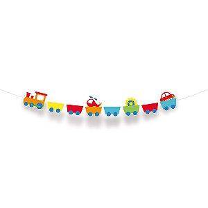 Faixa Decorativa - Festa Fábrica de Brinquedos - 01 unidade - Cromus - Rizzo Festas