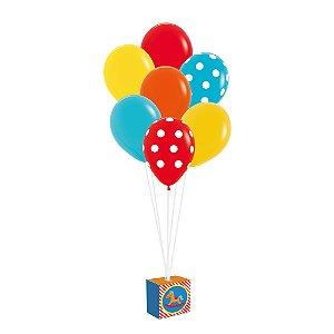 Kit Balões - Festa Fábrica de Brinquedos - 01 unidade - Cromus - Rizzo Festas