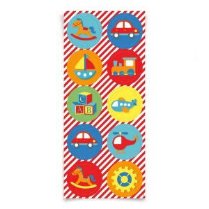 Adesivo Redondo - Festa Fábrica de Brinquedos - 30 unidades - Cromus - Rizzo Festas