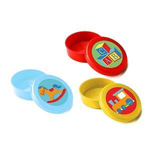 Latinha Lembrancinha Festa Fábrica de Brinquedos 5cm x 1,5cm 10 unidades - Rizzo Embalagens e Festas