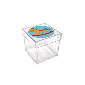 Caixinha Acrílica para Lembrancinha Festa Fábrica de Brinquedos - 20 unidades - Rizzo Festas