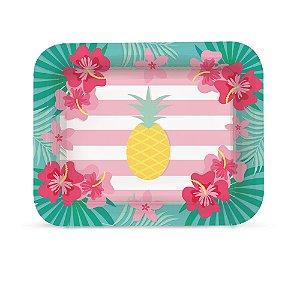 Bandeja Laminada R5 - Festa Tropical Flamingo - 01 unidade - Cromus - Rizzo Festas