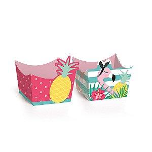 Forminha para Doces Composê Festa Tropical Flamingo - 24 unidades - Cromus - Rizzo Festas