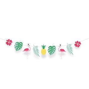 Faixa Decorativa - Festa Tropical Flamingo - 01 unidade - Cromus - Rizzo Festas