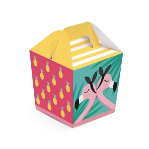 Caixa Sushi - Festa Tropical Flamingo - 08 unidades - Cromus - Rizzo Festas
