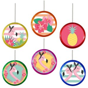 Ioiô para Lembrancinha Festa Tropical Flamingo - 1 unidade - Rizzo Festa
