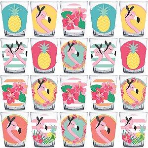 Copinho para Doces 40ml Festa Tropical Flamingo - 20 unidades - Rizzo Festas