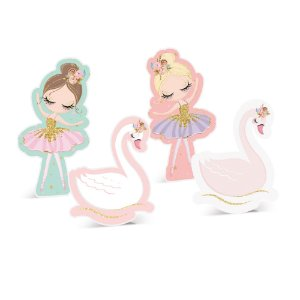 Silhueta Decorativa de Mesa - Festa Bailarina 2 - 04 unidades - Cromus - Rizzo Festas