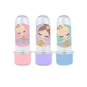 Mini Tubete Lembrancinha Festa Bailarina - 8cm - 10 unidades -  Rizzo Embalagens e Festas