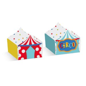 Forminha para Doces Composê Tenda e Circo Festa Circo 2 - 24 unidades - Cromus - Rizzo Festas