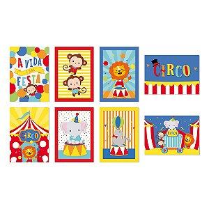 Cartaz Decorativo - Festa Circo 2 - 08 unidades - Cromus - Rizzo Festas