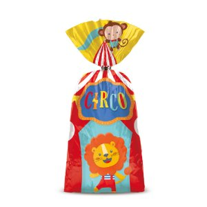 Sacola Surpresa Festa Circo 2 - 8 unidades - Cromus - Rizzo Festas