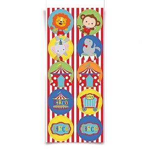 Adesivo Redondo - Festa Circo 2 - 30 unidades - Cromus - Rizzo Festas