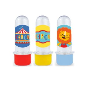 Mini Tubete Lembrancinha Festa Circo 2 - 8cm - 10 unidades -  Rizzo Embalagens e Festas