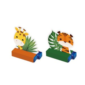 Caixa Bis - Festa Safari 2 - Tigre e Girafa - 08 unidades - Cromus - Rizzo Festas