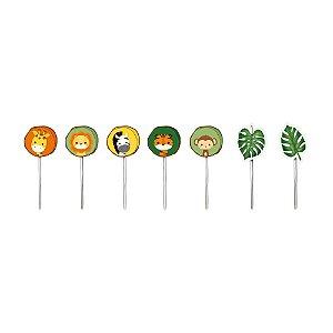 Pick Decorativo Sortido - Festa Safari 2 - 12 unidades - Cromus - Rizzo Festas