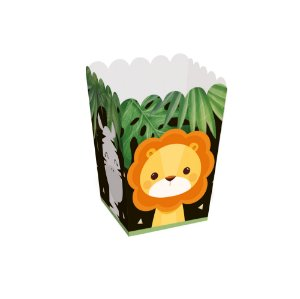 Caixa Pipoca - Festa Safari 2 - 10 unidades - Cromus - Rizzo Festas