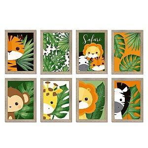 Cartaz Decorativo - Festa Safari 2 - 08 unidades - Cromus - Rizzo Festas