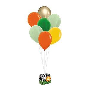 Kit Balões - Festa Safari 2 - 01 unidade - Cromus - Rizzo Festas