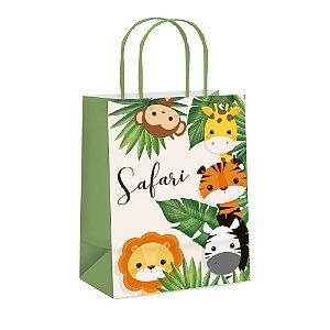 Sacola de Papel para Lembrancinha Festa Safari 2 - 10 unidades - Cromus - Rizzo Festas