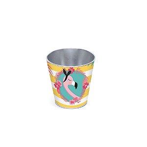 Cachepot de Metal Festa Flamingo 2 - 01 unidade - Rizzo Festas