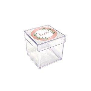 Caixinha Acrílica para Lembrancinha Festa Oh Baby Girl - 20 unidades - Rizzo Festas