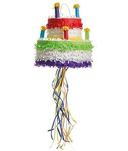 Pinhata Para Festa Infantil Formato Bolo 32cm - 01 unidade - Cromus - Rizzo Festas