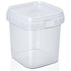 Pote com Lacre Quadrado 220ml - WS Plásticos - Rizzo Embalagens