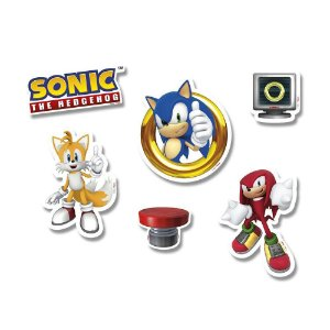 Mini Personagens Decorativos Sonic - 50 Unidades - Regina Festas - Rizzo Festas