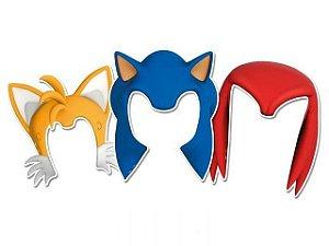 Acessório de Papel Festa Sonic - 6 unidades - Regina - Rizzo Festas