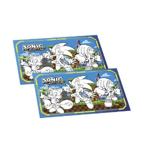 Lembrancinha de Colorir p/ Mesa Sonic C/ 8 unidades -Regina - Rizzo Festas