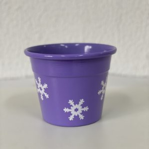 Vaso Floco de Neve - Lilás - P, M ou G -  Lumax - Rizzo Festas
