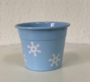 Vaso Floco de Neve - Azul - P, M ou G -  Lumax - Rizzo Festas