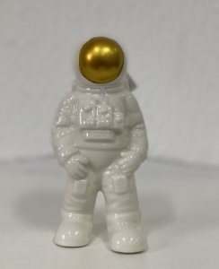 Astronauta de Cerâmica - 01 Unidade - Rizzo Festas