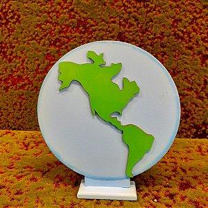 Decoração MDF Planeta Terra - 01 Unidade - Mara Móveis - Rizzo