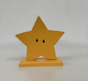 R25 - Decoração de MDF - Estrela Mario - 01 Unidade - Mara Móveis - Rizzo Festas