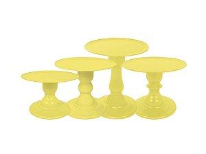 Boleira Mosaico - Liso - Amarelo - Tamanhos  P, M, G e GG - 01 Unidade - Só Boleiras - Rizzo Festas