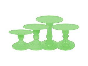 Boleira Mosaico - Liso - Verde Limão - Tamanhos  P, M, G e GG - 01 Unidade - Só Boleiras - Rizzo Festas