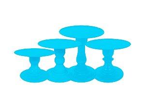Boleira Mosaico - Liso - Azul Céu - Tamanhos  P, M, G e GG - 01 Unidade - Só Boleiras - Rizzo Festas