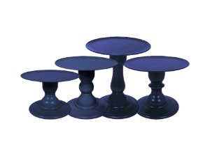 Boleira Mosaico - Liso - Azul Marinho - Tamanhos  P, M e G - 01 Unidade - Só Boleiras - Rizzo Festas